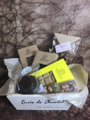 """Coffret bois """"Envie de chocolat"""""""